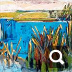 AB inf 1-005 70x70 Lw/acr Ufer blau